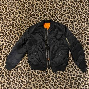 black bomber jacket in like new condition